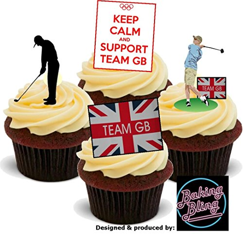 12-x-olympics-golfing-golf-support-team-gb-sports-mix-fun-novelty-premium-stand-up-edible-wafer-card
