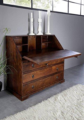 MASSIVMOEBEL24.DE Kolonialmöbel Sekretär Akazie massiv Holz Oxford #515