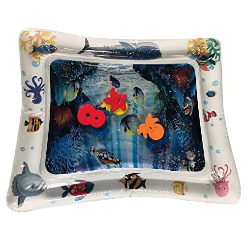Babysbreath17 Baby-Kind-aufblasbare Wasser-Spiel-Matte PVC Baby Bauch-Zeit Playmat Kleinkind Fun Activity Center Spielen 3 66x50cm