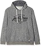 JACK & JONES Herren Kapuzenpullover JJEPANTHER Sweat Hood NOOS PS, Grau (Light Grey Detail:Ps-Melange), XXX-Large