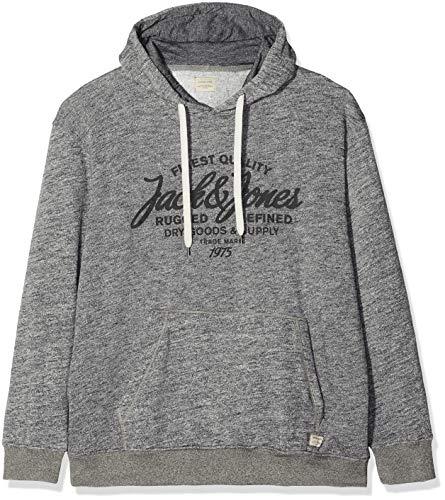 JACK & JONES Herren Kapuzenpullover JJEPANTHER Sweat Hood NOOS PS, Grau (Light Grey Detail:Ps-Melange), XXX-Large
