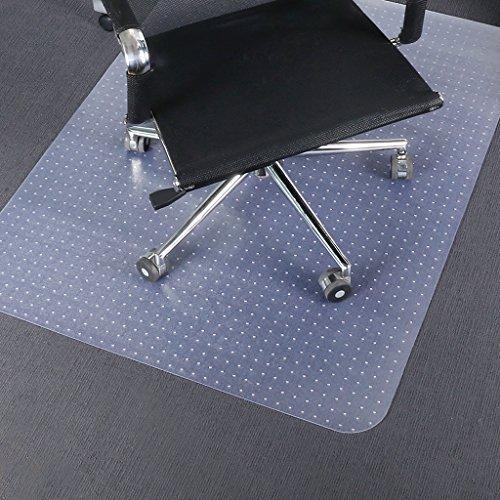 SLYPNOS Bodenschutzmatte für Teppich und Teppichböden, Bürostuhl Unterlage PVC ohne BPA & Phthalat,e 122 x 92 cm, mit Ankernoppen, transparent