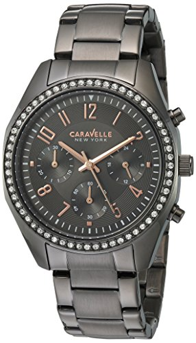 Caravelle New York Womens Analogue Quartz Watch with Stainless-Steel Strap 45L161