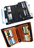 #8: Pareek With Combo Benefits (Combo Of 2) Expanding Cheque Book Holder For Multiple Purpose All New (Black, Brown) Set Of 2 Ton Of Uses
