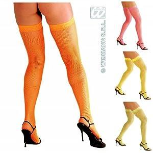 widmann-wdm4749°F disfraz Adulto mujer, Naranja, Amarillo, Rosa, Verde, wdm4749°F