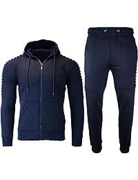 Be Jealous Mens Gym Pants Hooded Sweatshirt Ribbed Jogging Bottoms Zip Up Pockets Tracksuit UK Size S-XL
