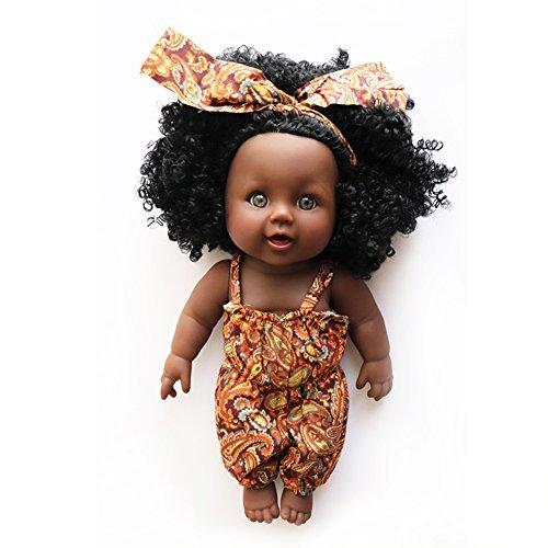 Nice2you Poupée Afro-américaine réalistes 12 Pouces...