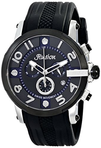 MULCO Unisex MW3-12239-025 Ilusion Roll Analog Display Swiss Quartz Black Montre