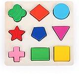 LAMEIDA Juguetes Educativo Juguetes Juegos Juguetes Rompecabezas de Madera Con Diferente Figuras para Niño Bebé Muchacho Muchacha Niña