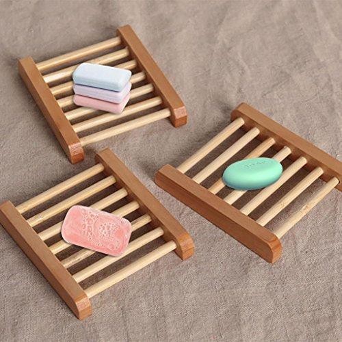 Seifenschale Halter, xinxinyu Holz Seifenschale Ablage Bad Dusche Teller Home Badezimmer Wash Tray Holder (Teller Soap)
