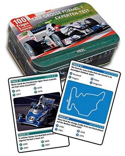 Preisvergleich Produktbild Der große Formel 1 Experten-Test: 100 Fragen & ausführliche Antworten. Quizbox mit 50 Spielkarten.