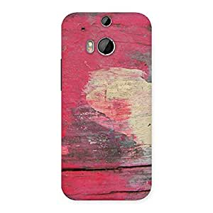 Cute Vintage Red Yellow Print Back Case Cover for HTC One M8