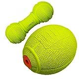 LaROO Hundespielzeug Set, Dog Squeeze Ball Set Haustiere Hundespielzeug Naturkautschuk Dog Ball Set mit Sound für Hunde, Katzen und Haustiere -Pack of 2PCS