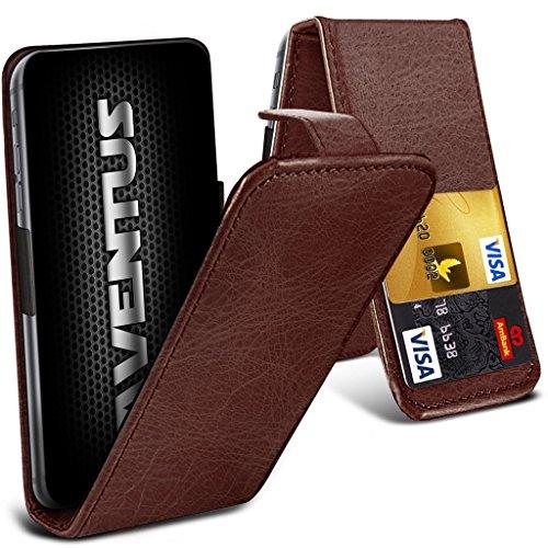 Aventus (Brown) Lenovo Phab2 Pro Premium-PU-Leder Universal Hülle Spring Clamp-Mappen-Kasten mit Kamera Slide und Karten-Slot-Halter