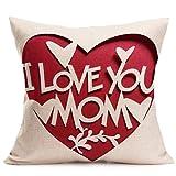 Te amo madre para sostener una funda de almohada,Subfamily Sofá Cama Decoración Del Hogar Festival...