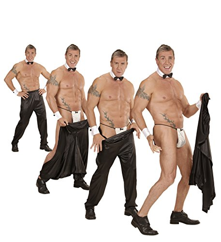 Panelize Stripper Stripperhose Menstrip Stripshow Nummernboy Hose Kostüm (M/L) (Magic Mike Kostüm)