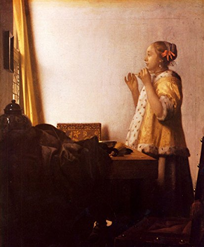 Das Museum Outlet - The Pearl Halskette von Vermeer - A3 Poster