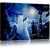 ululato del lupo alla luce della luna