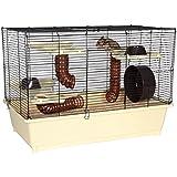 Trixie 64011 Hamsterkäfig, 62 × 46 × 36 cm, creme/braun
