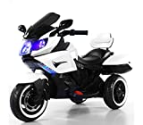 B37500 Motocicleta eléctrica SIDNEY para niños con luces y sonidos 12V - Blanco