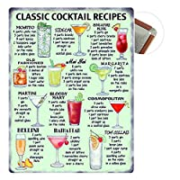 "Sycle circle Colorfast Vintage Metal Sign 7.87""x 11.81"" Tin Sign Plaque Poster Wall Art Decoration for Cafe Bar Restaurant Pub, Beer series"