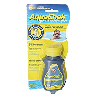 AquaChek 511244A Swimming Pool and Spa Test Strips - Yellow