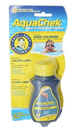 AquaChek 511244ASchwimmbecken- und Spa-Teststreifen, gelb -