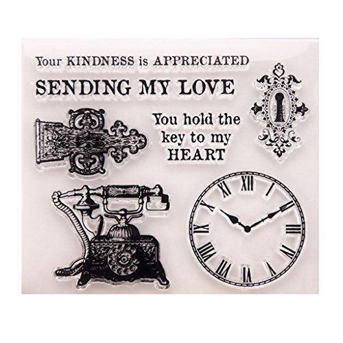 Koehope Clear Stamps Telefon Uhr klar Silikon Siegel Stempel DIY Album Scrapbooking Foto Karte Dekor Telefon Foto