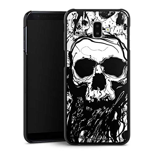 DeinDesign Hülle kompatibel mit Samsung Galaxy J6 Plus Duos (2018) Handyhülle Case Totenkopf Skull Halloween (Halloween Hard Rock)