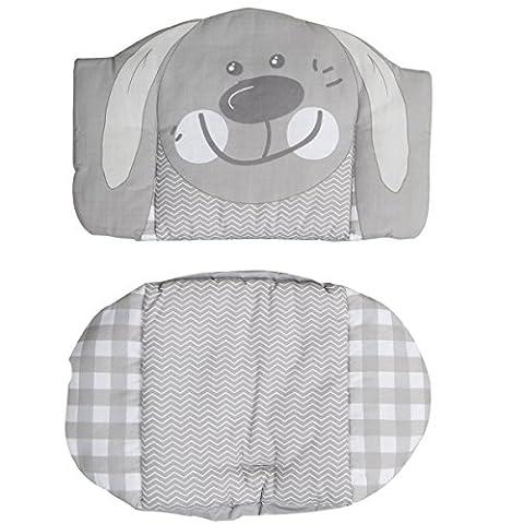 Sitzverkleinerer Hase weiche Polsterung wasserabweisend abwaschbar • Baby BabyHochstuhl Stuhl Sitz Kissen Auflage Kinder