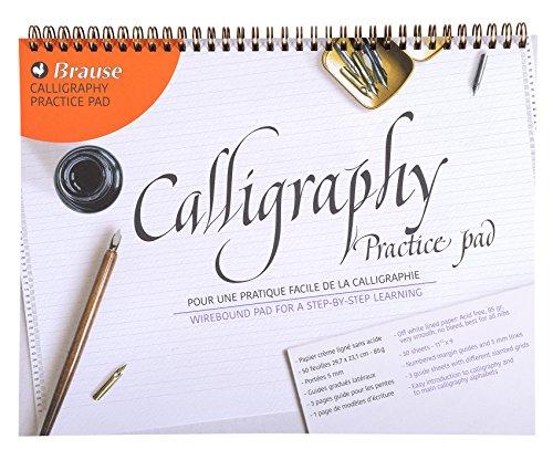Brause Kalligraphie-Übungspad, Weiß
