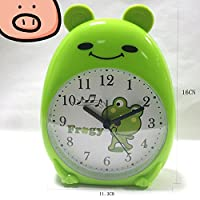 YOIL Creative Frog Alarm Clock with Night Light for Children Kids Students (Green)