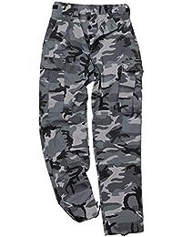 Mil-Tec BDU Ranger Combat Pantalons Noir Camo