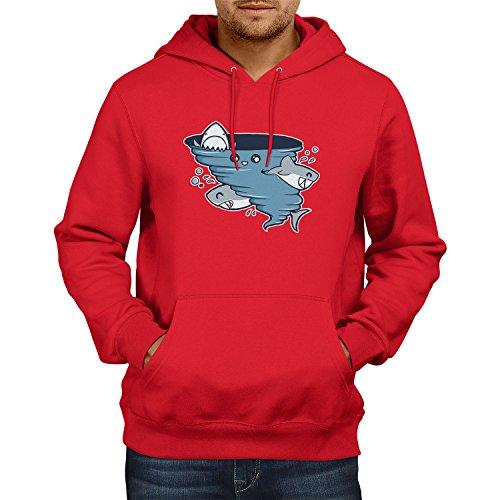 TEXLAB - Cute Shark Tornado - Herren Kapuzenpullover, Größe XXL, ()