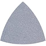 Wolfcraft 5887000 Lot de 5 Feuilles abrasives non-perforés auto-agrippantes peinture/vernis côté 95 mm grain 40/60