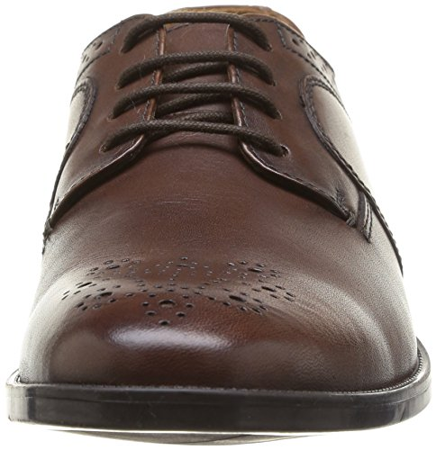 Clarks Kalden Edge Herren Derby Schnürhalbschuhe Braun (Brown Leather)