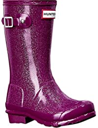 Hunter Original Kids Glitter Finish Mid-Calf Rubber Rain Boot
