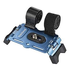 Mantona 20548 Support 1/4 pouces pour fixer Appareil Photo/Smartphone/Caméscope/Caméra d'action sur vélo Bleu