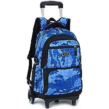 Mochila trolley para niños maleta bolsa Camo impermeable Rolling Trolley Mochila escolar Mochila con ruedas Camuflaje