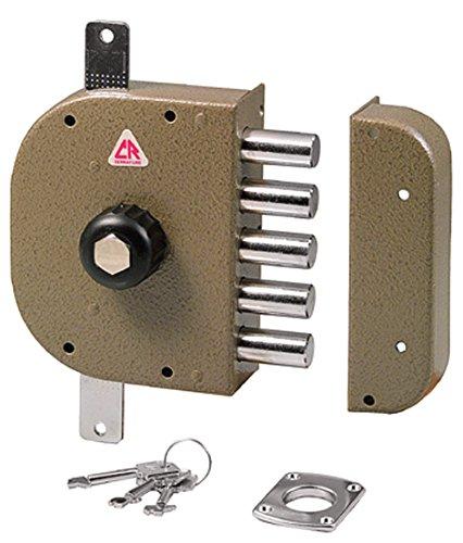 Cr Serrature 3200 P Serratura da Applicare senza Scrocco, Entrata Sinistra, 60 mm