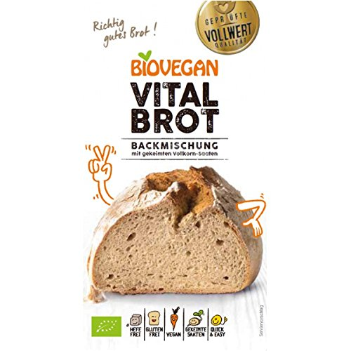 BioVegan Vital-Brotbackmischung, glutenfrei (315 g) - Bio