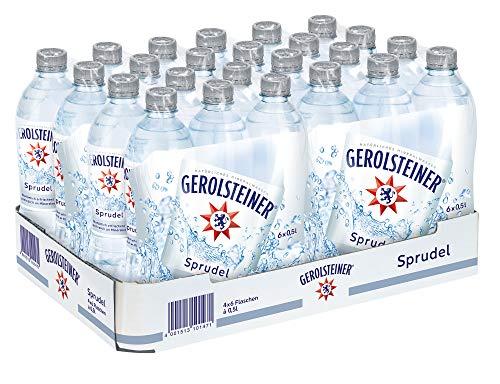 Gerolsteiner Sprudel / Natürliches Mineralwasser mit viel Kohlensäure und wertvollem Calcium und Magnesium / 24 x 0,5 L PET Einweg Flaschen - Natürliches Mineralwasser