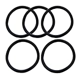 5PCS/Lot brand new silicone Cornelius Type Keg Seal replacement kit O-ring gomma Black