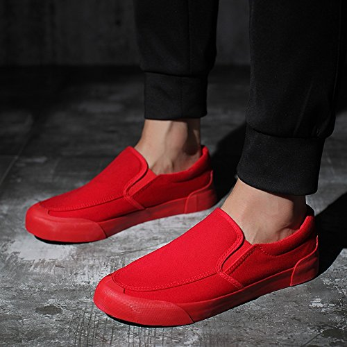 Plein Sneakers Toile Exercice En Air Color 45 43 Hommes Rouge wpqW7Z1