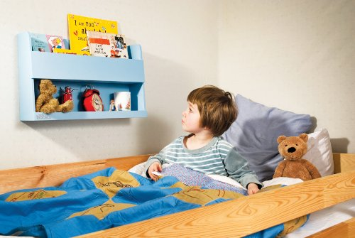 Tidy Books - The Children's Bookcase Company - The Original Wooden Bunk Bed Shelf and Bedside Storage for Childrens Rooms in Blue