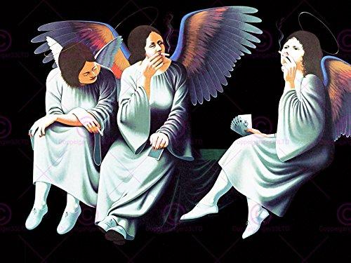 Angel Frame-foto (MUSIC ALBUM COVER BLACK SABBATH HEAVEN HELL ANGELS 18X24'' PLAKAT POSTER ART PRINT LV10208)