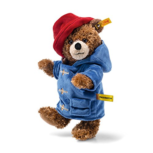 Plush Paddington Bear by Steiff - officially licensed jointed teddy - 28cm