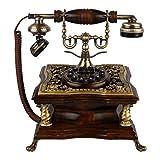 wadse Antikes Retro- kreatives europäisches Wohnzimmerschlafzimmerbüro der handgewebten Stoffspulelinie altes Harztelefon