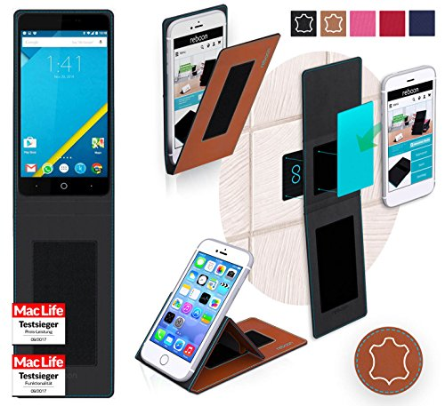 reboon Hülle für Elephone P6000 Pro Tasche Cover Case Bumper | Braun Leder | Testsieger