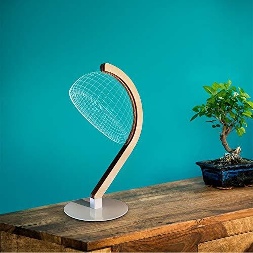 Holz Stereo-schränke (FWCJBS Nachtlicht Nachtbeleuchtung Kreatives visuelles 3D-Licht Stereo-Tischlampe aus Holz Acryl-LED-Tischlampe)